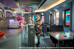 Interior-of-Sushi-Airways-with-Stewardess-in-Hybrid-Kimono