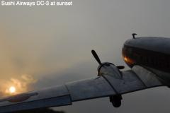 Sushi-Airways-DC-3-at-sunset
